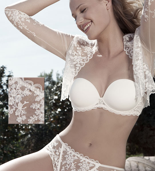 acd59467983 The Pretty Ivette White Bridal Lingerie - Best all cotton lace soft ...