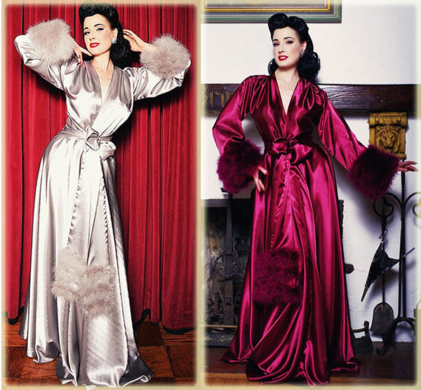 Dressing Gowns & Feather-Trimmed Robes