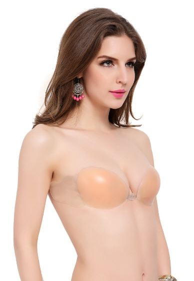 Adhesive bra with side wings