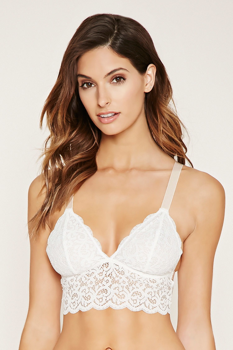 Forever21 Caged Ornate Lace Bralette